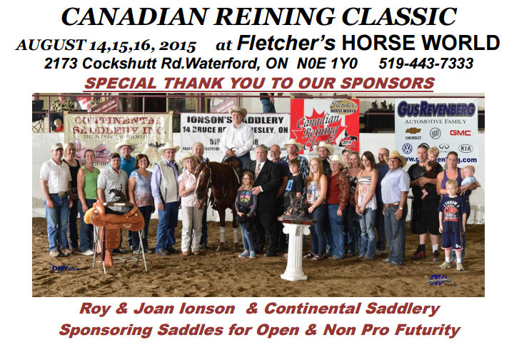 Canadian Reining Classic - Fletcher's Horse World